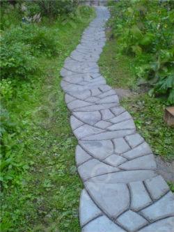 Форма пластиковая для садовых дорожек