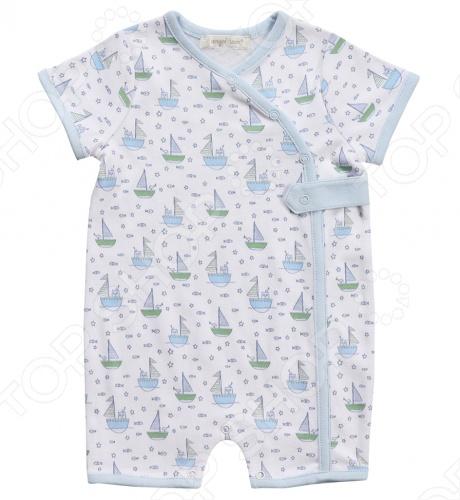 Песочник Angel Dear Row Your BoatБоди. Песочники<br>Angel Dear, создает классическую одежду для новорожденных и детей младшего возраста от 0 до 4 лет . При создании учитываются самые современные тенденции в мире моды, и особое внимание уделяется деталям. Каждая коллекция имеет свой неповторимый стиль, который дополняется различными милыми аксессуарами, чтобы сохранить ощущения столь сладостного периода детства. Комфорт ребенка - основополагающий принцип в создании коллекций каждого сезона. Линии одежды Angel Dear вы можете увидеть в лучших бутиках и магазинах по всей территории США. Песочник Angel Dear Row Your Boat. Очаровательный песочник с короткими рукавами с голубым принтом в виде корбликов, с удобной застежкой на кнопках, V-образным вырезом. Модель выполнена из мягкой и уютной ткани. Пима хлопок - это шелковистое, мягкое и прочное волокно, на ощупь напоминающее кашемир. Пима легче и в два раза прочнее чем обычный хлопок, по качеству схож с египетским хлопком.Эта категория хлопка принадлежит к категории класса ЛЮКС . Состав: 100 пима хлопок.<br>