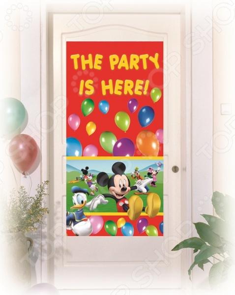 Баннер на дверь Procos «Веселый Микки»Баннеры. Гирлянды. Шары<br>Баннер на дверь Procos Веселый Микки подарит вам и вашему ребенку атмосферу радости и сказочного настроения. Вы можете использовать его для украшения комнаты, при проведении детского праздника, дня рожденья или другого торжества. Яркие и выразительные изображения героев любимых мультфильмов, приятный фон, на котором они изображены, несомненно, придутся по душе всем детям, которые увидят баннер и настроят их на радостную и интересную игру.<br>