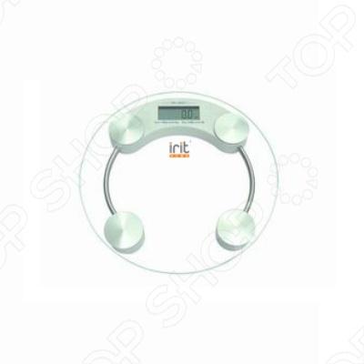 Весы Irit IR-7240Весы<br>Весы напольные Irit IR-7240 позволяют вам всегда быть в форме и контролировать вес в домашних условиях. Максимальный вес пользователя 150 кг, дискретность 100 г. Весы включаются путем касания,а автоотключение происходит через 10 секунд после завершения взвешивания. На 4-х разрядном ЖК дисплее отражается информация, а также индикация перегрузки и разрядки батарей. Весы работают от литиевой батареи CR2032, которая входит в комплект поставки.<br>