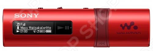 MP3-плеер SONY NWZ-B183F это удобная модель для любителей музыки. Плеер очень компактный, не занимает много места, его можно носить даже в небольшом кармане. Короткой трехминутной зарядки хватает полтора часа прослушивания любимой музыки. Мощные басы активируются всего одной кнопкой.