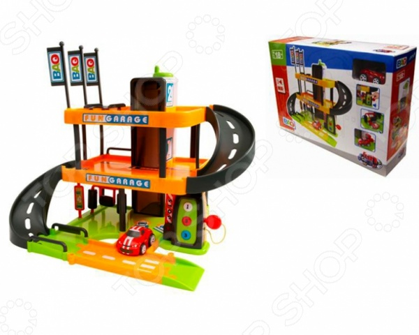 Игровой набор Smoby «Трехуровневый гараж»Игровые наборы для мальчиков<br>Игровой набор Smoby Трехуровневый гараж это прекрасный набор, который разнообразит игровые ситуации и откроет новые сюжеты для маленького автолюбителя. Модель состоит из нескольких разборных элементов, которые имеют очень простые способы крепления. В данном наборе имеются заправка, автомойка, крутые спуски, а также поднимающийся лифт. На втором и третьем уровнях расположена парковка. Для большего игрового эффекта Smoby Трехуровневый гараж оснащен тремя звуковыми эффектами. В набор входит яркая машинка, которая непременно понравится вашему малышу. Для игры можно использовать любые другие машинки небольшого размера. Не упустите шанс порадовать своего ребенка замечательным подарком! Для работы необходимы 3 батарейки типа ААА в комплект не входят .<br>