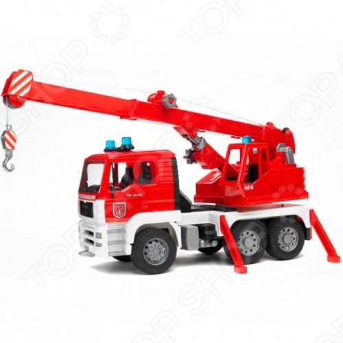 Пожарная машина-автокран Bruder Man 02-770 машины bruder лесовоз scania с портативным краном и брёвнами