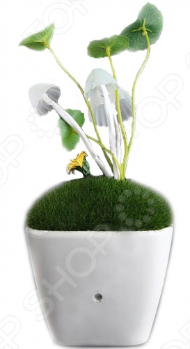 Светодиодная лампа «Аватар»Ночники<br>Светодиодная лампа Аватар это отличная светодиодная лампа, которая выполнена в виде горшка с мхом, грибами, листьями и цветком. Элементы ночника исполнены в стиле декораций растений к кинофильму Аватар. Все элементы можно разместить по своему вкусу. Модель сможет стать интересным композиционным дополнением в любой комнате. В устройстве есть встроенный светочувствительный датчик, который контролирует включение и выключения прибора.<br>
