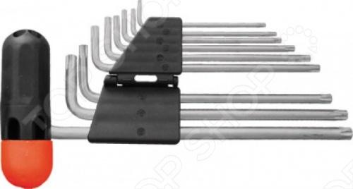 Набор ключей-звездочек FIT содержит девять ключей различного размера и Т-образного держателя. Ключи выполнены из высокопрочной стали с матовым хромированным покрытием. С помощью данного набора можно создавать или разбирать резьбовые соединения размером от Т10 до Т50 мм.