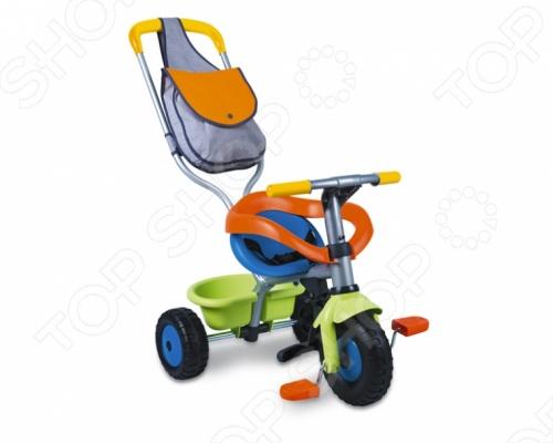 Велосипед трехколесный Smoby Be Fun Confort - станет отличным подарком для вашего малыша. Многофункциональное транспортное средство по достоинству оценят как взрослые так и дети. Модель имеет регулируемый по высоте толкатель с удобной сумкой, дуги и удобные ремни безопасности. Когда малыш подрастет, то сможет кататься на велосипеде самостоятельно. У велосипеда широкие прорезиненные бесшумные колеса, которые придадут ему большую устойчивость.