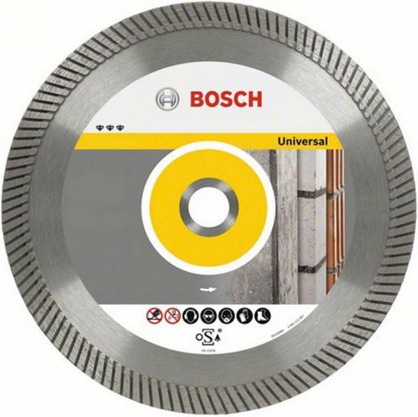 Диск отрезной алмазный Bosch Best for Universal 2608602672Диски пильные<br>Диск отрезной алмазный Bosch Best for Universal 2608602672 это отличный отрезной диск для стандартных стройматериалов, таких как бетон, кирпичная кладка, кирпич, гранит, чугунные трубы и металл. Диск делает точный и качественный пропил, он обеспечивает четкие кромки и чистое пиление. Материал корпуса: высококачественная инструментальная сталь. В случае, если вам необходимо провести качественную резку, этот диск именно то, что вам нужно. Увеличенная высота режущих сегментов снижает боковое трение, а так же повышает срок службы диска и рабочую скорость.<br>