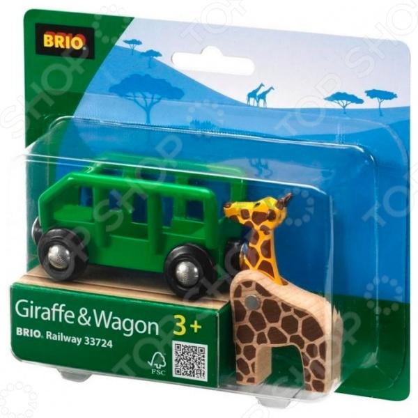 фото Жираф в вагончике Brio 33724, Железные дороги