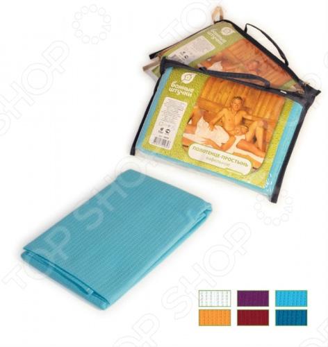 купить Полотенце-простынь банное вафельное Банные штучки цветное, однотонное по цене 341 рублей