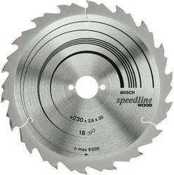 Диск отрезной для ручных циркулярных пил Bosch Speedline Wood 2608640805 диск отрезной для торцовочных пил bosch optiline wood 2608640432