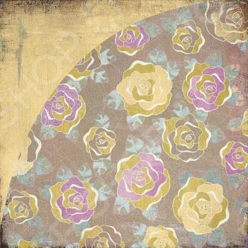 фото Бумага для скрапбукинга двусторонняя Basic Grey Velvet bloom, купить, цена