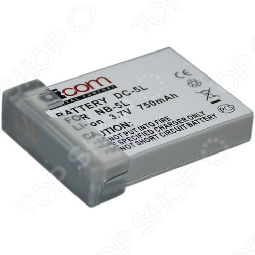 фото Аккумулятор для фотокамеры Dicom DC-NB5L, Аккумуляторные батареи для фотоаппаратов и видеокамер