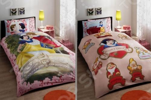 Детский комплект постельного белья Tac Snow white love