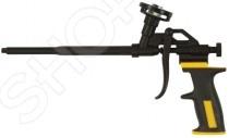 Пистолет для монтажной пены FIT «Профи»Пистолеты для герметика и пены<br>Пистолет для монтажной пены FIT Профи это профессиональный инструмент, который предназначен для работ с тубами, у которых есть крепление под пистолет. Корпус и клапан сделаны из алюминиевого сплава, подающая трубка из нержавеющей стали, а рукоятка из пластика и покрыта резиной. Все металлические детали покрыты тефлоном. Есть возможность регулировки скорости подачи пены.<br>