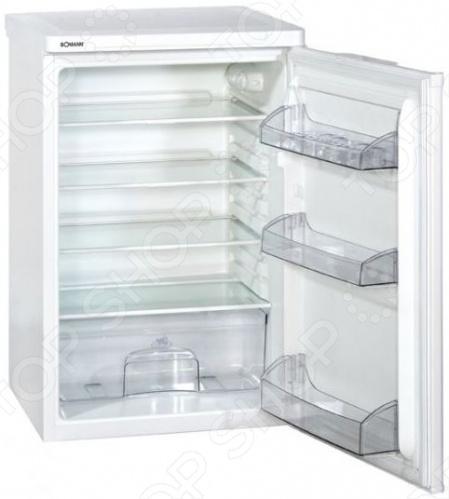 Холодильник Bomann VS 198 поможет вам сохранить продукты свежими в течение долгого времени. Каждая хорошая хозяйка знает, что главный секрет приготовления вкусных и полезных блюд заключается в использовании свежих продуктов. С помощью этого холодильника овощи, фрукты, мясо, рыба и другие продукты будут дольше сохранять свою свежесть. Такой холодильник будет хорошо смотреться на современной кухне, и его по достоинству оценят люди, которые шагают в ногу со временем. Компактные размеры позволяют разместить этот холодильник даже на маленькой кухне.