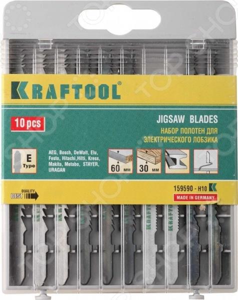 Пилки для электролобзика Kraftool 159590-H10 набор бит kraftool 26060 h10