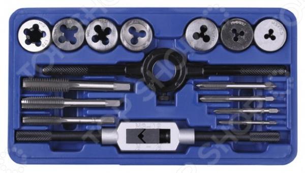Набор резьбонарезной Stayer Profi, 16 штРезьбонарезной инструмент<br>Набор резьбонарезной Stayer Profi, 16 шт применяется для нарезания внутренней и наружной метрической резьбы. При использовании этого набора нет необходимости в чистой доводке на металлических заготовках. В процессе работы рекомендуется использовать смазочные материалы. В набор входят плашки и метчики М3х0.5; М4х0.7; М5х0.8;М6х1.0; М8х1.25; М10х1.5; М12х1.75 , а также плашкодержатель и вороток для метчиков.<br>