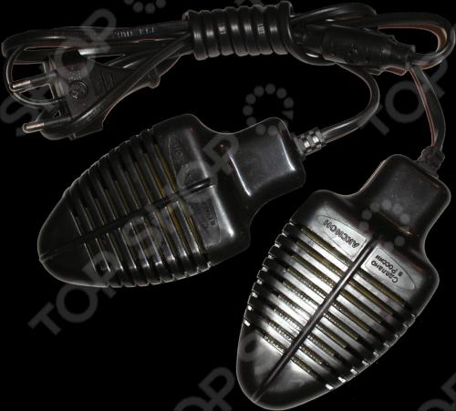 Сушилка для обуви Аксион очень удобная вещь для любого обывателя, устройство засовывается в обувь и включается режим сушки. Эффект дезодорации за счет аромо-пластика. Порой незаменимая вещь в зимнее время, для того, чтобы обувь была сухой и теплой.