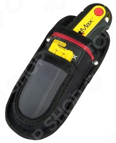 Чехол-держатель STANLEY для ножа FatMaxСумки. Ящики. Шкафы для инструментов<br>Чехол-держатель STANLEY для ножа FatMax используется для хранения и транспортировки любых ножей Stanley. Выполнен из нейлона. Легко фиксируется на ремне. Для большей безопасности внутренняя часть изделия выполнена из пластика, устойчивого к механическим повреждениям. Чехол оснащен карманом для хранения 10 лезвий.<br>