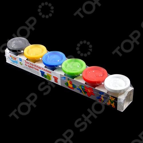 Набор для лепки Малыши «Тесто-пластилин 6 цветов»
