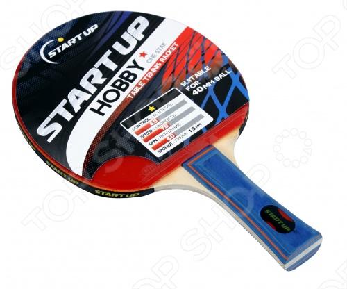 Ракетка для настольного тенниса Start Up Hobby-1S набор для настольного тенниса ракетка 2шт мяч 3шт сетка torneo ti bs301