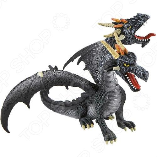 Фигурка-игрушка Bullyland Двуглавый драконИгрушечные животные<br>Фигурка-игрушка Bullyland Двуглавый дракон из серии Фэнтази станет отличным подарком для всех поклонников фантастических миров магии и драконов. Коллекционная модель великолепно проработана, а в процессе изготовления были использованы только высококачественные нетоксичные материалы, абсолютно безопасные для человека.<br>
