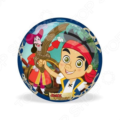Мяч Mondo «Джейк и Пираты Нетландии»Мячи детские<br>Мяч Mondo Джейк и Пираты Нетландии отличная вещь для активного отдыха на улице. С этим мячиком ребенок будет проводить время весело и с пользой для здоровья, развивая ловкость и координацию движений. Яркое оформление изделия привлечет внимание остальных детей на игровой площадке. Изготовлен из материалов высокого качества с соблюдением технологических процессов производства.<br>