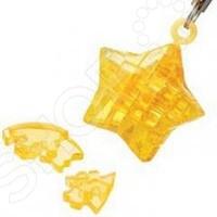 Пазл кристаллический Crystal Puzzle «Звезда желтая»Другие виды пазлов<br>Пазл кристаллический Crystal Puzzle Звезда желтая это замечательная альтернатива привычным пазлам. Готовая модель будет выглядеть как настоящая фигурка, детали которой плотно зафиксированы. Когда пазл собран стыки почти не видны и ребенок сможет любоваться готовым изделием. Собранная фигурка выглядит словно сделана из хрусталя, она может стать красивым элементом декора. Пазлы такого типа помогают развить логическое и пространственное мышление, фантазию, понятие объема и мелкую моторику рук. Внутри конструктора есть светодиод, который подсветит фигуру в темноте.<br>