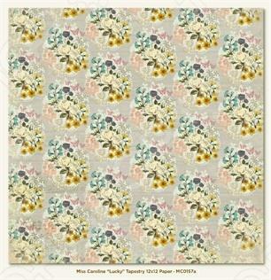 фото Бумага для скрапбукинга двусторонняя Morn Sun Tapestry, купить, цена