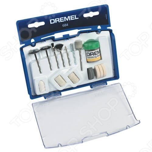 Набор насадок для чистки и полировки Dremel 684 набор средств для чистки fouganza набор по уходу за изделиями из кожи