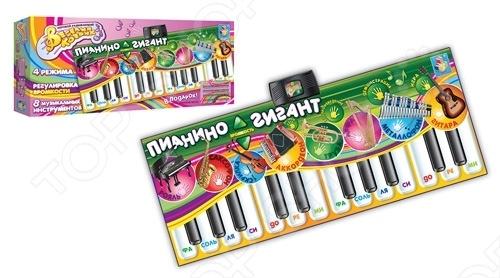 Коврик интерактивный музыкальный 1 TOY Т51677 Пианино-Гигант это отличный коврик, который реагирует на касание ребенка. Коврик способствует интеллектуальному и физическому развитию ребенка. Отлично помогает развивать моторику, зрительное восприятие, логическое мышление и наблюдательность вашего чада. Есть 10 мелодий с различным звуковыми эффектами. Можно подключить свой плеер. Коврик обладает функцией автоматического выключения. Материал экологически чистый, абсолютно безопасный для ребенка.