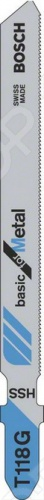 Набор пилок для лобзика Bosch T 118 G HSS