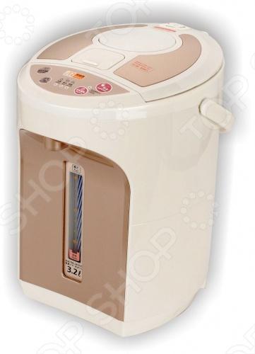 Термопот Vitesse VS-118 отличается стильным дизайном и удобством в эксплуатации. В случае отключения электричества термопот сохранит температуру воды за счёт встроенного аккумулятора. Для дополнительной безопасности прибор обладает функцией автоматического отключения работы без воды. Объем в 3,2 литра позволит приготовить чай или кофе на всю семью.