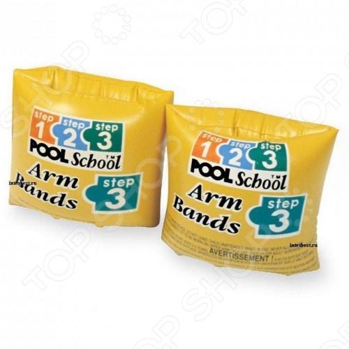 Нарукавники надувные Intex 56643 для детей от 3-х до 6-ти лет, два воздушных отсека. Толщина плёнки 0,25 мм