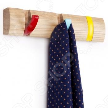 Вешалка настенная горизонтальная с 3-мя крючками Umbra Flip umbra вешалка настенная sticks серая