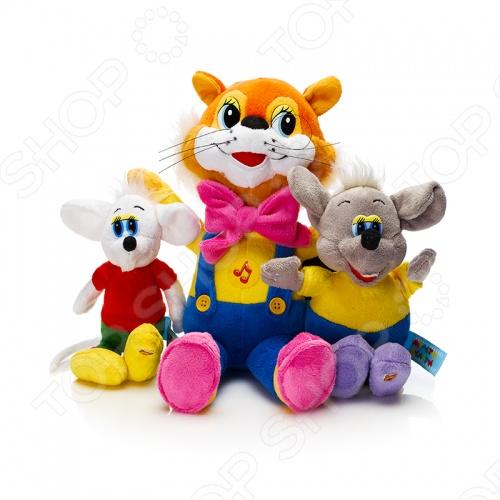Набор из трех мягких игрушек Мульти-Пульти «Леопольд и мыши»