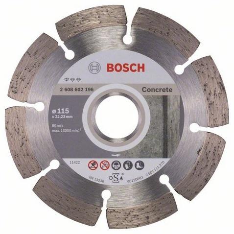 Диск отрезной алмазный для угловых шлифмашин Bosch Professional for Concrete