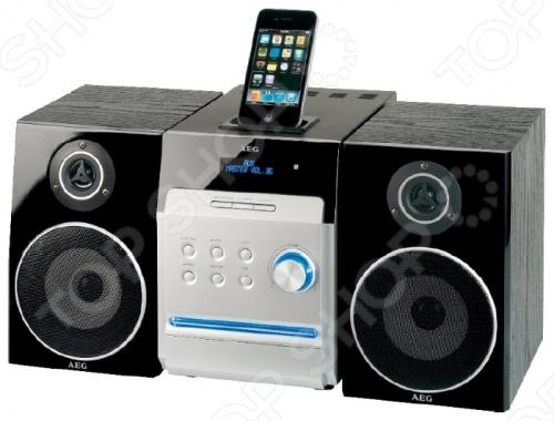 Микросистема AEG MC 4448 для прослушивания музыки, просмотра фильмов и фотографий. Встроенная док-станция позволяет подключить iPhone и iPod для управления гаджетами можно использовать стандартный пульт дистанционного управления из комплекта . Микросистема читает DVD и DVD-R RW, Audio CD и CD-R RW, Video CD и Super VСD, а также Kodak Picture CD. Распознает форматы MP3, MPEG4 и JPEG. Есть USB-порт. Подключение к ТВ возможно по HDMI, Scart или при помощи коаксиальных аудио видео разъемов. Встроенный радио приемник работает в FM диапазоне. Компания AEG была основана в 1887 году и стала пионером в области немецкой электроники. Они достигли больших высот, следуя девизу Идеальный по форме и функциям . Сегодня производитель предлагает богатый ассортимент товаров высокого качества.