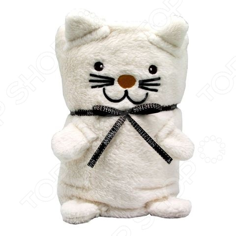 Плед-игрушка Coool Toys Белый котик внесет яркий акцент в интерьер детской комнаты, добавит ей гармонии и уюта. Модель выполнена из высококачественного гипоаллергенного полиэстера, отлично зарекомендовавшего себя в пошиве теплой одежды и покрывал, за счет своей легкости, мягкости, хорошей теплоизоляции и низкой сминаемости. Если плед сложить, то он превратится в забавного белого котенка.