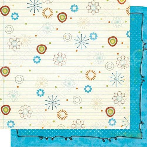 фото Бумага для скрапбукинга двусторонняя Fancy Pants Notebook Doodles, купить, цена