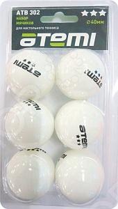 Мячи для настольного тенниса Atemi ATB302 мячи для настольного тенниса double fish 2 star