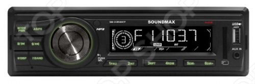 Автомагнитола Soundmax SM-CCR3047F автомагнитола usb sd soundmax sm ccr3056f