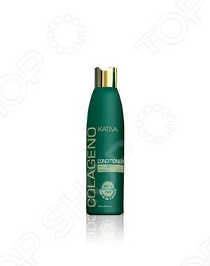 Кондиционер коллагеновый Kativa дополняет и укрепляет действия коллагенового шампуня. Кондиционер активно увлажняет волосы, придает им силу, наполняя кератином, улучшает внешний вид, придает блеск. Благодаря специальным комплексам кондиционер создает естественную защиту волос от УФ лучей. Кондиционер противодействует факторам старения волос. Не содержит соли и сульфатов. Подходит для ослабленных и поврежденных временем волос.