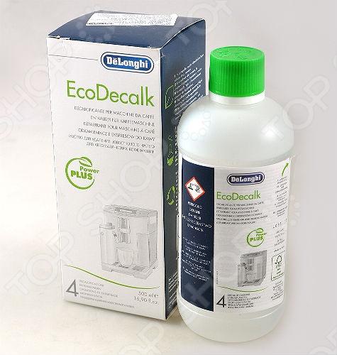 Средство для удаления накипи для кофеварок DeLonghi EcoDecalk средство от накипи для чайников и кофеварок melitta 4 х 12 г
