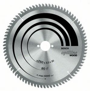 Диск отрезной для торцовочных пил Bosch Optiline Wood 2608641765 диск отрезной для ручных циркулярных пил bosch optiline wood 2608640617