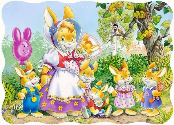 Пазл 30 элементов MIDI Castorland «Семья кроликов»Пазлы (2–30 элементов)<br>По мнению многих педагогов и воспитателей собирание пазлов являются одними из лучших развивающих занятий. Подобная деятельность укрепляет основные навыки ребенка, помогает формировать его кругозор. Пазлы способны развить много полезных качеств в ребенке - это и логическое мышление, и внимательность и фантазия, а особенно активно в процессе складывания пазлов развивается память. Пазл 30 элементов MIDI Castorland Семья кроликов - станет замечательным и полезным подарком для вашего ребенка. С увлечениям собирая красочную картинку с изображением любимых сказочных героев, ребенок будет развивать мелкую моторику и когнитивное мышление. Так же не стоит забывать о том, что собирание пазлов - это отличная возможность интересно и с пользой провести время с ребенком, ведь совместная деятельность крайне положительно сказывается на общем развитии детей. В результате совместной работы вы получите замечательное красочное изображение, которым можно украсить стены детской комнаты, а ребенок с гордостью будет демонстрировать его своим друзьям. Все элементы пазла изготовлены из плотного материала, имеют высокое качество печати и точную нарезку деталей, что обеспечивает превосходную стыковку.<br>