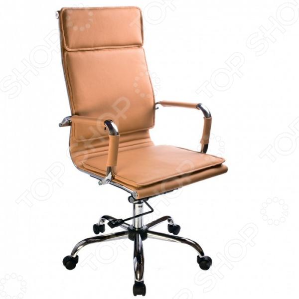 Кресло Бюрократ CH-993 станет отличным дополнением к набору офисной мебели и обеспечит непревзойденный комфорт и удобство во время работы. Каркас кресла выполнен из высококачественных ударостойких материалов, а обивка из искусственной светло-коричневой кожи. Модель оснащена металлическими подлокотниками с мягкими накладками, регулируемой спинкой и колесиками для транспортировки. Максимально допустимая нагрузка на кресло 120 кг.