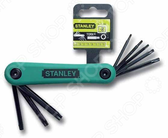 Набор из 8-ми торцевых складных ключей Stanley Torx 4-69-263 abc t9 electric screwdriver torx bits set silver grey 5mm shank t9