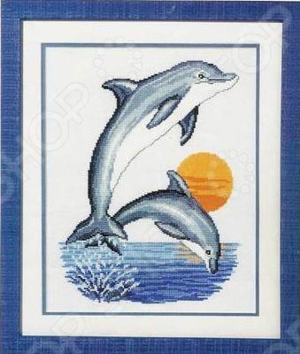 Набор для вышивания крестиком Vervaco «Дельфины»Наборы для вышивания<br>Набор для вышивания крестиком Vervaco Дельфины это набор для вышивания, который точно понравится вашей дочке, ведь с его помощью так легко создать красивую картину! С помощью элементов набора вы сможете создать эскиз, который будет схож со старыми фотоснимками. Цвета передадут незабываемую атмосферу вышитых картин, картина скрасит ваш досуг и позволит отточить свои навыки в сфере вышивания. Своими руками вы сможете создать уникальные изображения, которыми можно украсить дом или офис.<br>