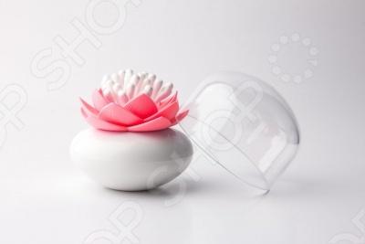 Контейнер для хранения ватных палочек Qualy Lotus